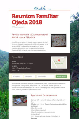 Reunion Familiar Ojeda 2018