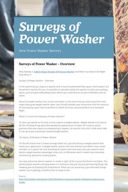 Surveys of Power Washer