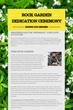 Rock Garden Dedication Ceremony