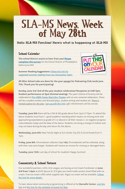 SLA-MS News, Week of May 28th