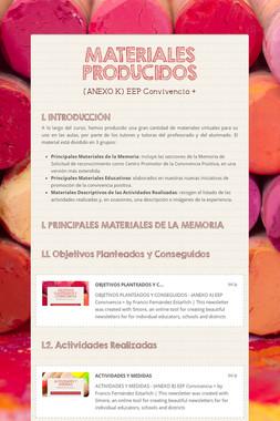 MATERIALES PRODUCIDOS