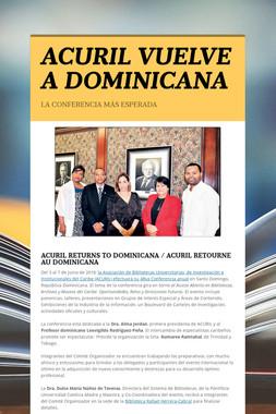 ACURIL VUELVE A DOMINICANA