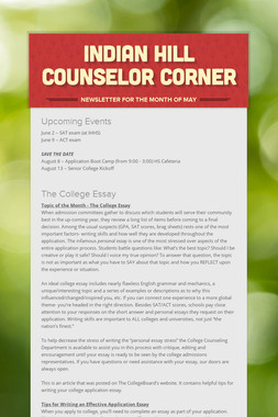 Indian Hill Counselor Corner