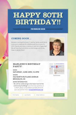 Happy 80th Birthday!!