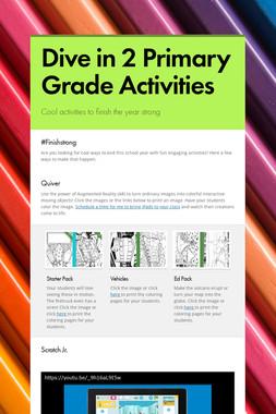 Dive in 2 Primary Grade Activities