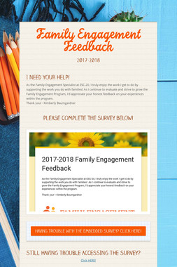 Family Engagement Feedback
