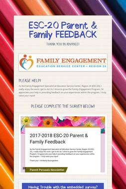 ESC-20 Parent & Family FEEDBACK