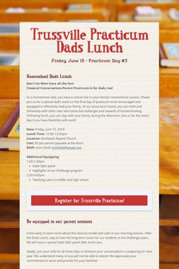 Trussville Practicum Dads Lunch