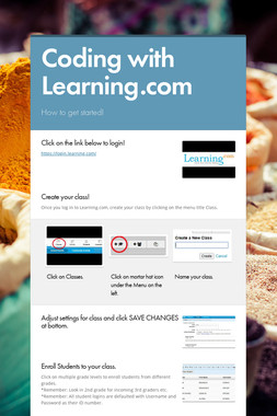 Coding with Learning.com