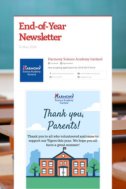 End-of-Year Newsletter