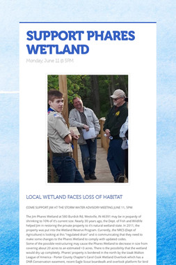 SUPPORT PHARES WETLAND
