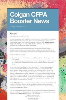 Colgan CFPA Booster News