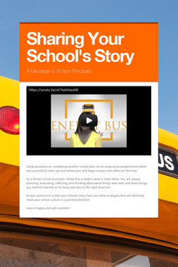 Sharing Your School's Story