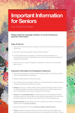 Important Information for Seniors