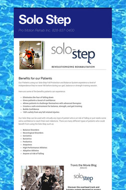 Solo Step our Newest Therapy