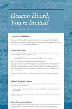 Beacon Board, You're Invited!