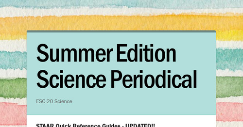 Summer Edition Science Periodical