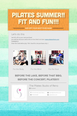 PILATES SUMMER!! FIT AND FUN!!!
