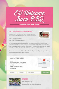 EV Welcome Back BBQ