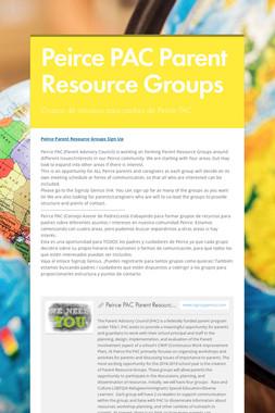 Peirce PAC Parent Resource Groups