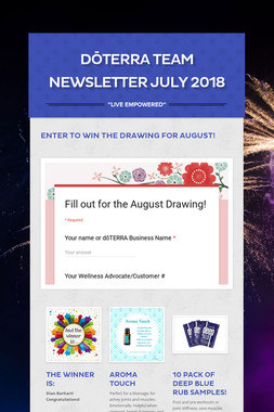 dōTERRA Team Newsletter July 2018