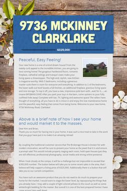 9736 McKinney Clarklake