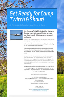Get Ready for Camp Twitch & Shout!