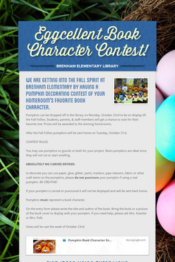 Eggcellent  Book Character Contest!