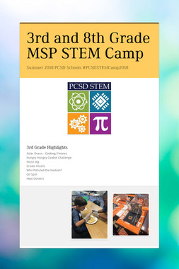 3rd and 8th Grade MSP STEM Camp