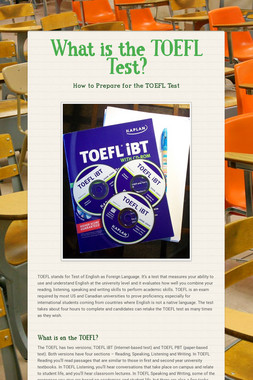 What is the TOEFL Test?
