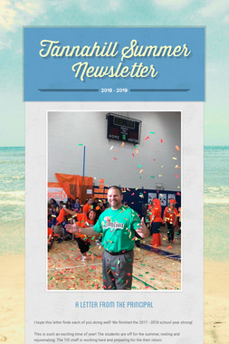 Tannahill Summer Newsletter
