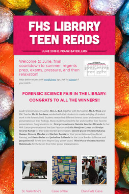 FHS LIBRARY TEEN READS