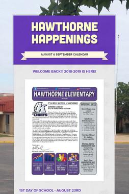 Hawthorne Happenings