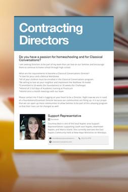 Contracting Directors
