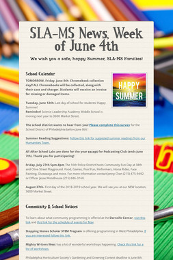 SLA-MS News, Week of June 4th