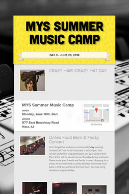 MYS Summer Music Camp