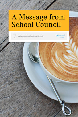A Message from School Council