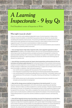 A Learning Inspectorate - 9 key Qs