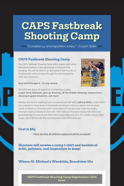 CAPS Fastbreak Shooting Camp