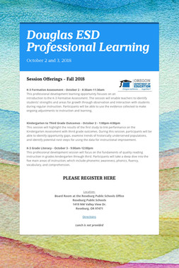 Douglas ESD Professional Learning