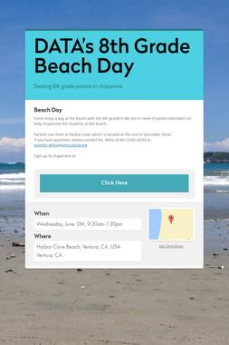 DATA's 8th Grade Beach Day