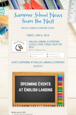 Summer School News from the Nest