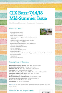 CLX Buzz: 7/14/18 Mid-Summer Issue