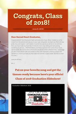 Congrats, Class of 2018!