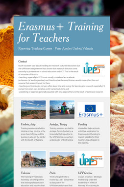Erasmus+ Training for Teachers
