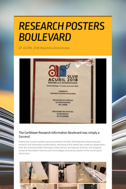 RESEARCH POSTERS BOULEVARD