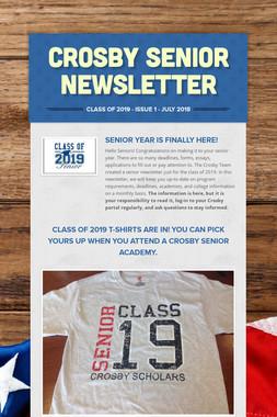 Crosby Senior Newsletter