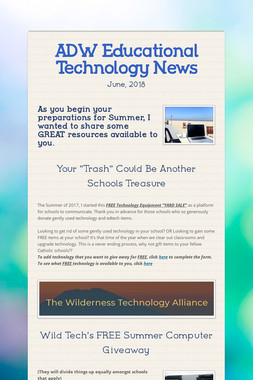 ADW Educational Technology News