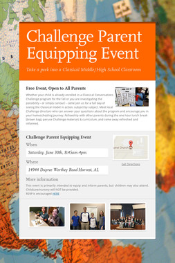 Challenge Parent Equipping Event
