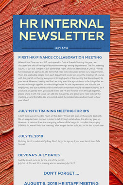 HR Internal Newsletter